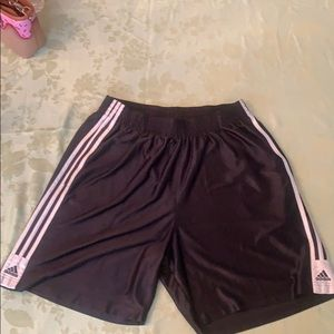 Adidas black basketball shorts size XL